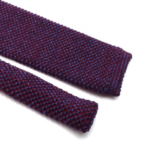 Mix of Purple Knitted Wool Tie
