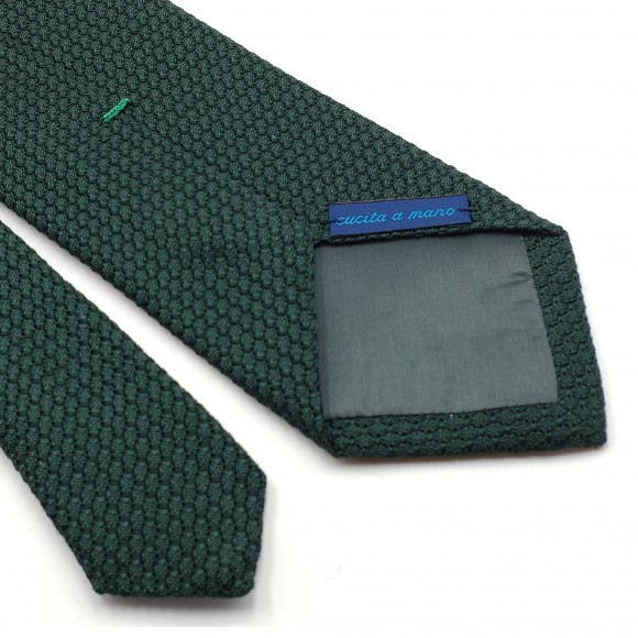 Grenadine «Garza Grossa» Silk Tie Green