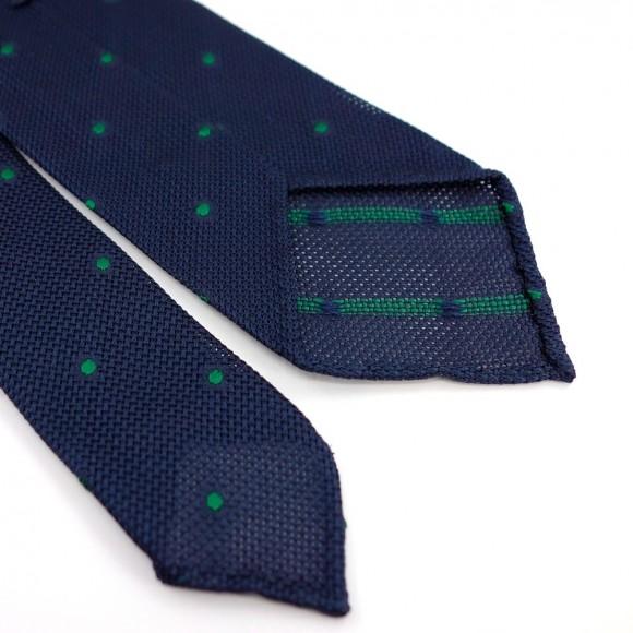 Grenadine Silk Tie with Green Polka Dot