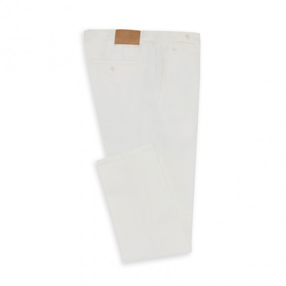 Formal Chino white twill 2