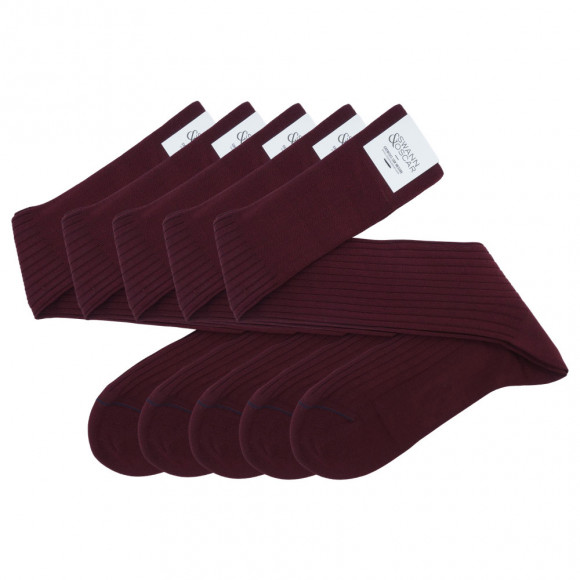 Burgundy Pack Socks