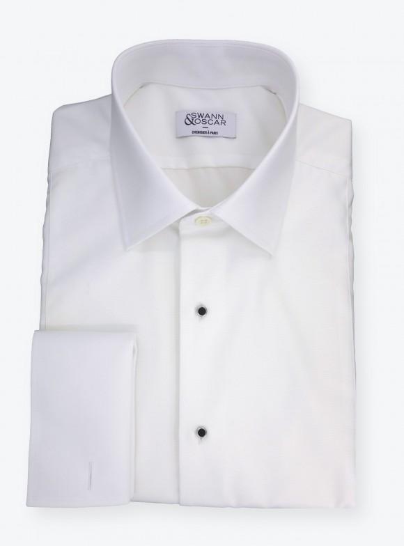 Shirt Poplin Plain White