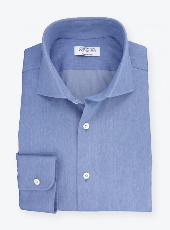 Shirt Denim Plain Blue