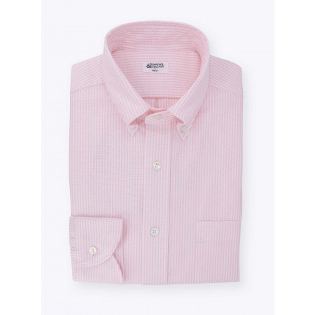 Shirt Pink Stripes Oxford