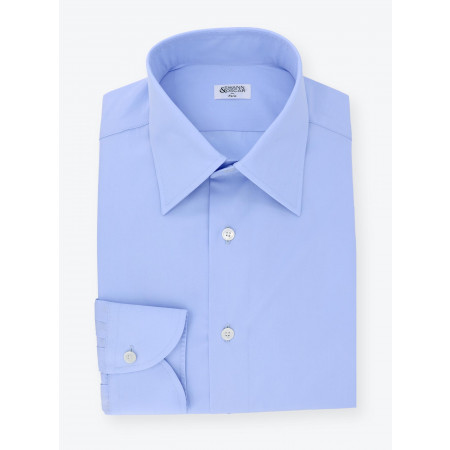 Shirt Poplin Plain Blue