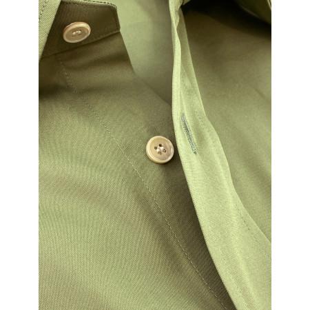 Green Poplin Shirt