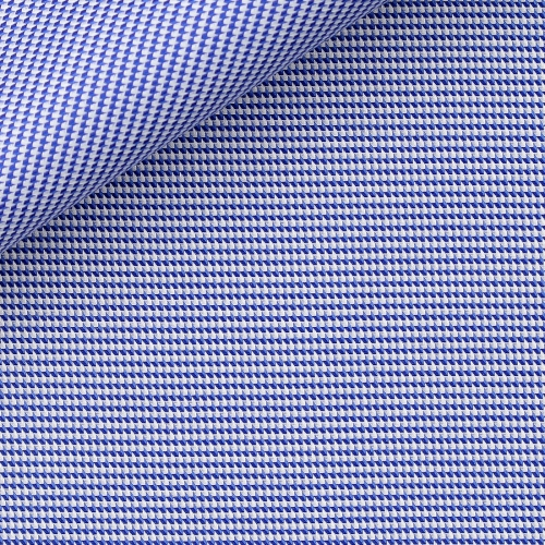 Dobby Check Pattern Blue