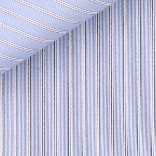Blue Stripes Poplin