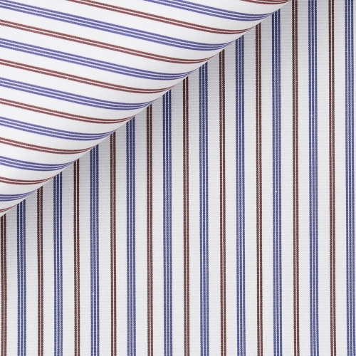 Brown Stripes Poplin