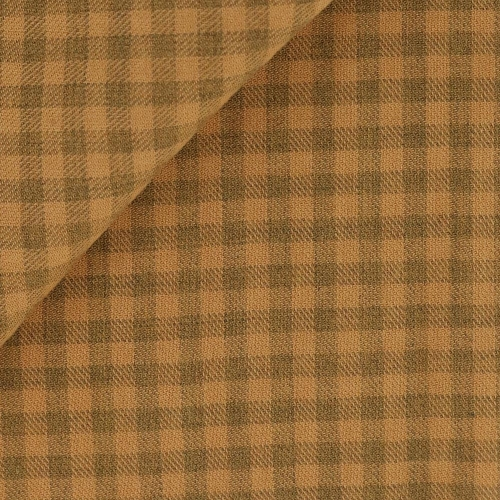 Twill Check Pattern Beige Orange