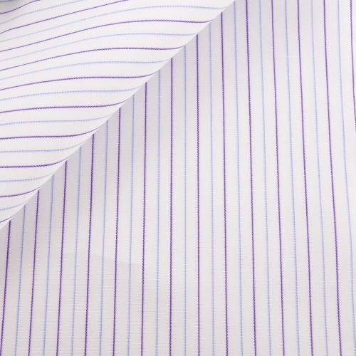 Poplin Stripes Blue Purple