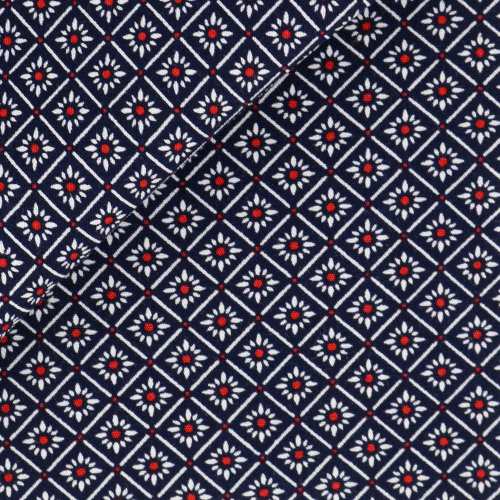 Poplin Pattern Black Red