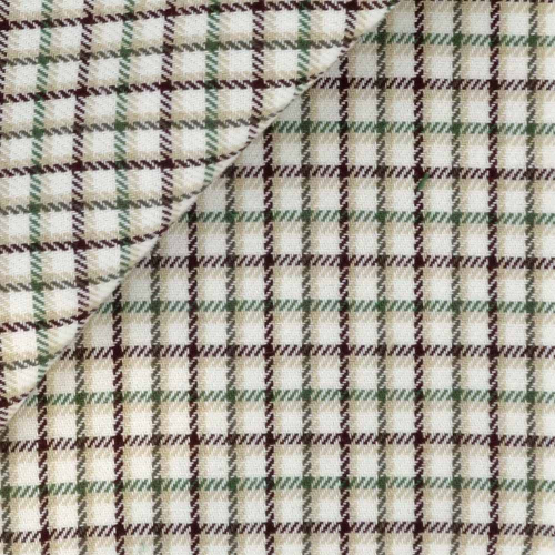 Flannel Check Pattern Brown Green
