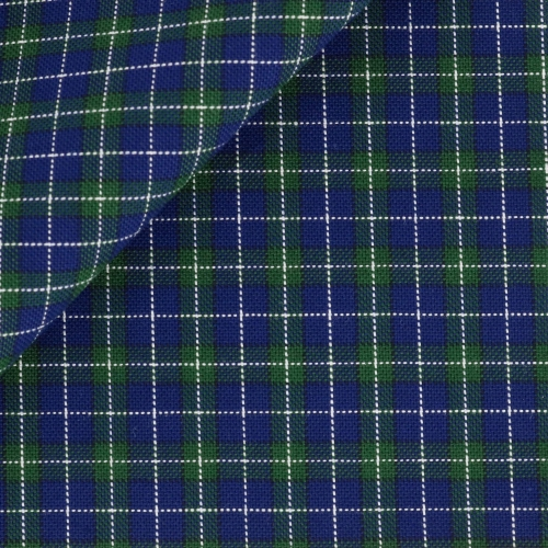 Oxford Check Pattern Blue Green