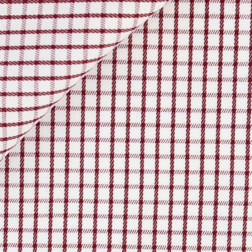 Twill Check Pattern Red