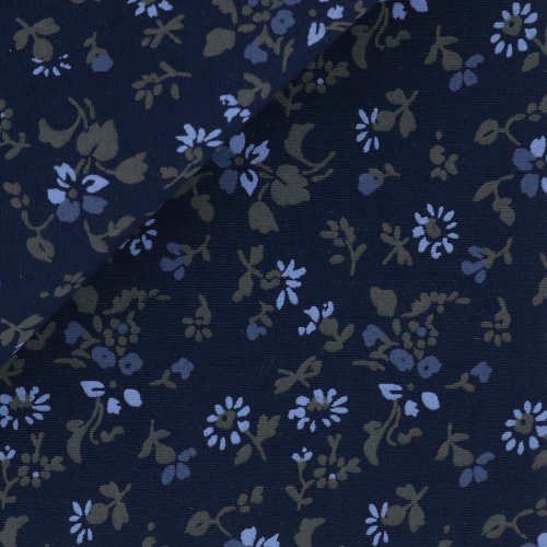Poplin Pattern Blue Grey