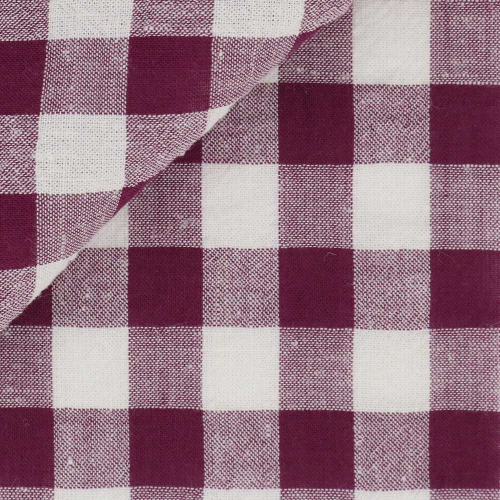 Seersucker Check Pattern Bordeaux