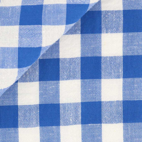 Seersucker Check Pattern Blue