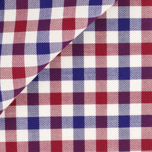 Twill Check Pattern Blue Bordeaux