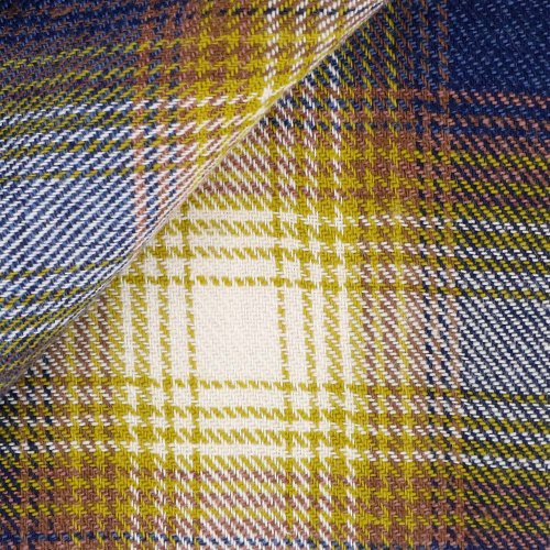 Flannel Check Pattern Beige Orange