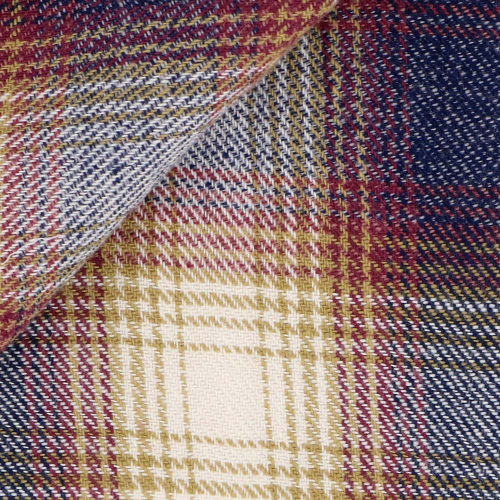 Flannel Check Pattern Beige Red