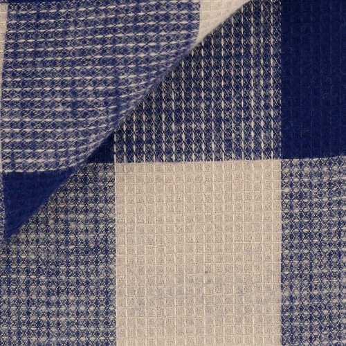 Flannel Check Pattern Blue Beige