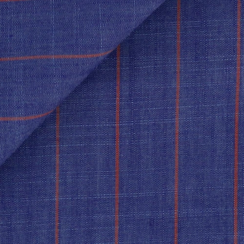 Poplin Stripes Blue Red