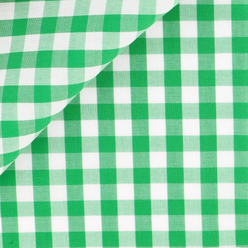 Poplin Check Pattern Green