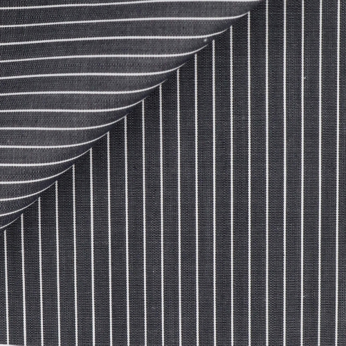Grey Stripes Poplin