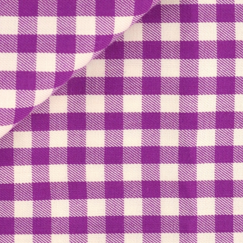 Twill Check Pattern Mauve