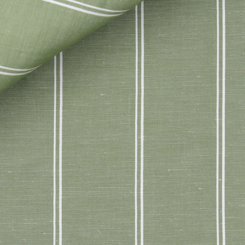 Linen Stripes Green