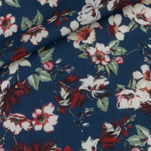 Poplin Pattern Blue Red