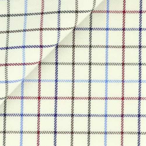 Twill Check Pattern Blue Red