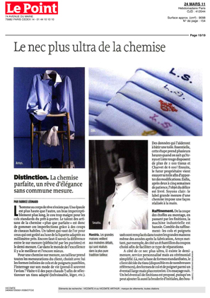Magazine Le Point - Made-to-measure shirts