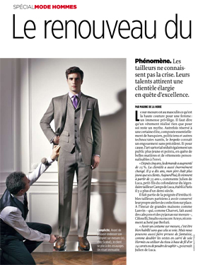 Newspaper Le Point - made to measure