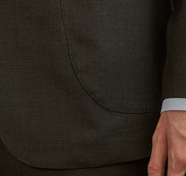 Charcoal grey suit pocket