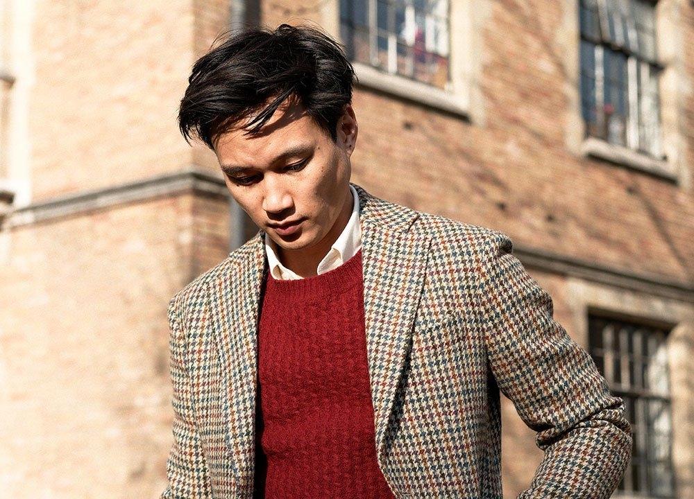 Tweed Jacket and blended wool shirt